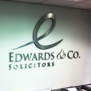 Edwards&Co internal reception signage