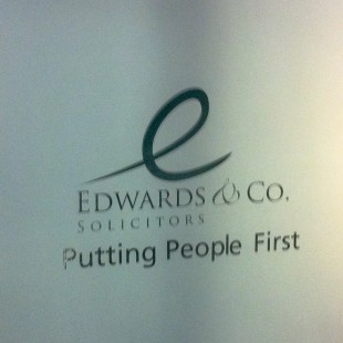 Edwards&Co internal stairwell lettering