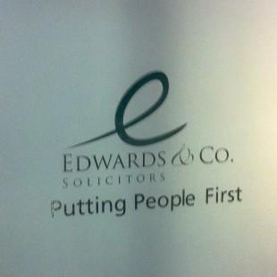Edwards&Co internal stairwell lettering
