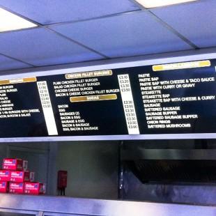 Kingfisher menu