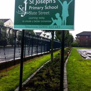 StJosephs School freestanding external sign