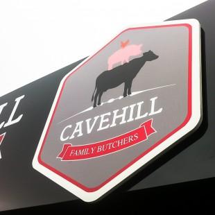 cavehill butcher extsign raised foamex logo