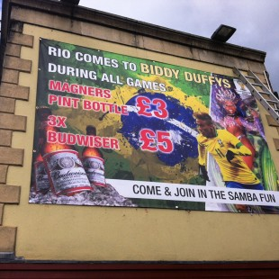 Biddy Duffys worldcup banner