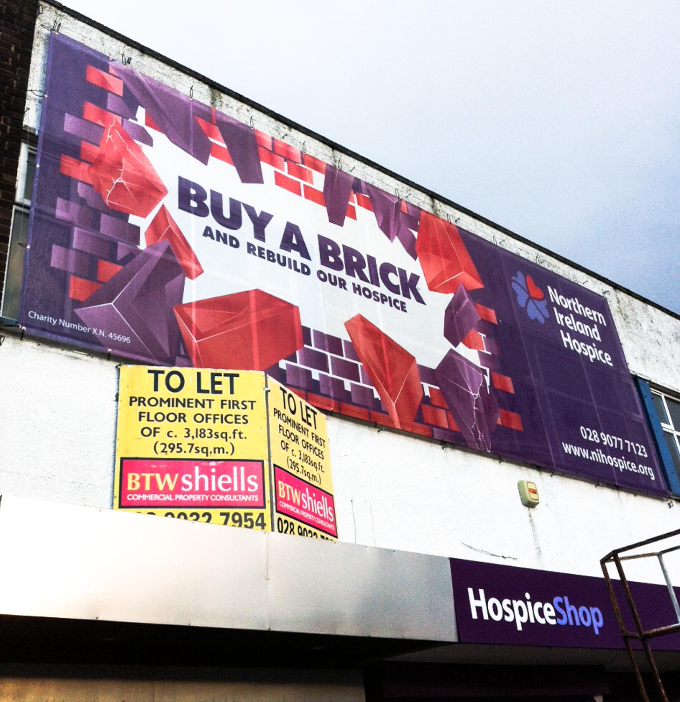 Banner building wraps signs belfast design display for Banner wrap